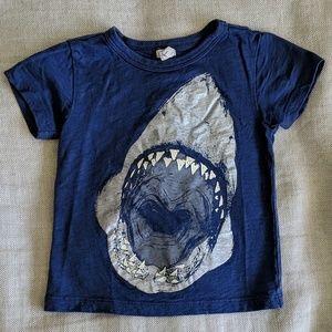 JCrew Crewcuts Toddler Blue Shark Tee